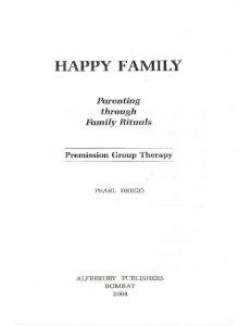 Happy Family: Parenting through family rituals