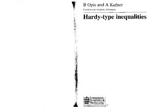 Hardy-type Inequalities (Pitman Research Notes in Mathematics Series)