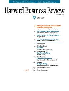 Harvard Business Review - May 2005