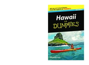 Hawaii For Dummies (Dummies Travel) - 5th edition