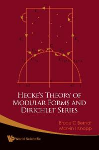 Hecke's theory of modular forms and Dirichlet series