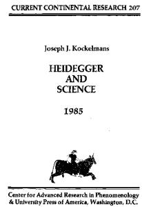 Heidegger and Science