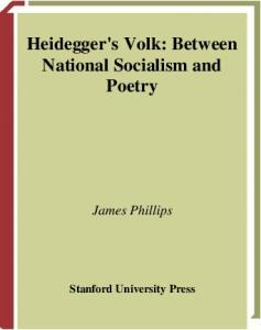 Heidegger's Volk: Between National Socialism and Poetry (Cultural Memory in the Present)