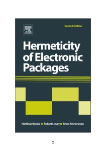 Hermeticity of Electronic Packages, Second Edition