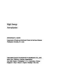 High Energy Astrophysics (Frontiers in Physics)