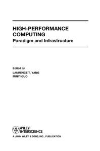 High-Performance Computing : Paradigm and Infrastructure