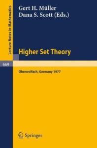 Higher set theory. Proceedings, Oberwolfach, Germany, 1977