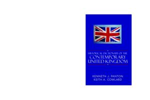 Historical Dictionary of the Contemporary United Kingdom (Historical Dictionaries of Europe)
