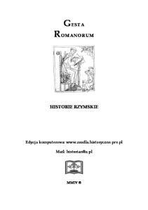 Historie Rzymskie