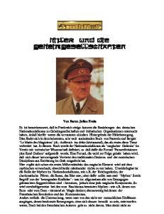 Hitler und die Geheimgesellschaften