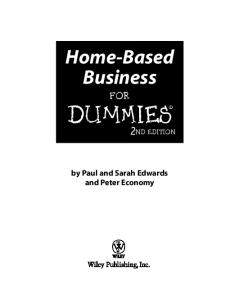Home-Based Business For Dummies (For Dummies (Business & Personal Finance))