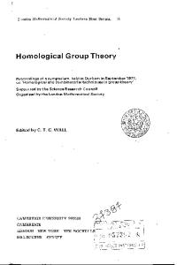 Homological Group Theory (London Mathematical Society Lecture Note Series)
