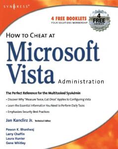 How to Cheat at Microsoft Vista Administration (How to Cheat)