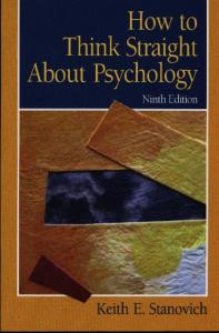 How to think straight about psychology, 9th edition