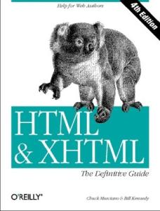 HTML & XHTML: The Definitive Guide, 6th edition