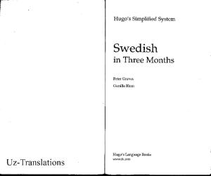Hugo Language Course: Swedish In Three Months (with Audio)