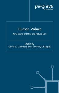 Human Values: New Essays on Ethics and Natural Law