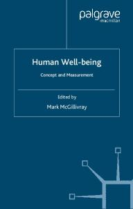 Human Well-Being: Concept and Measurement (Studies in Development Economics and Policy)