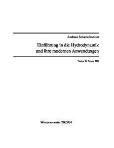 Hydrodynamik und Anwendungen 001