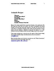 Icelandic Recipes