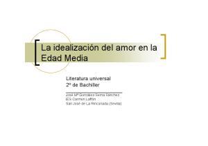 Idealizacion Del Amor En La Edad Media