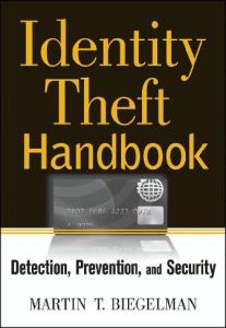 Identity Theft Handbook Detection Prevention And Security