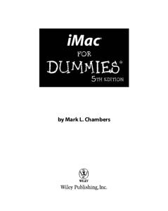 iMac For Dummies, 5th edition (For Dummies (Computer Tech))