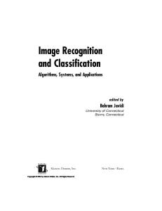 Image Recognition and Classification Algorithms Systems and Applications - Marcel Dekker