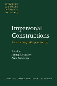 Impersonal Constructions: A Cross-Linguistic Perspective