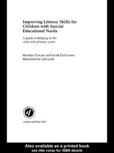Improving Literacy Skills for Children with Special Educational Needs