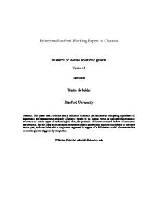 In search of Roman economic growth