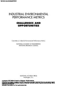 Industrial Environmental Performance Metrics: Opportunities and Challenges