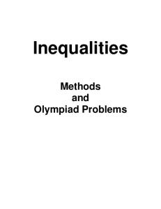 Inequalities Methods and Olympiad Problems
