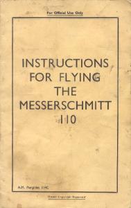Instructions for flying the Messerschmitt Me-110