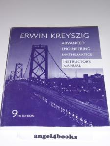 Instructor's Manual For Advanced Engineering Mathematics 9th Edition