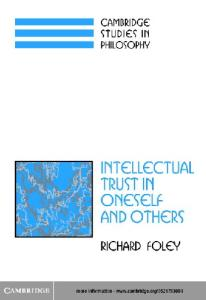 Intellectual trust in oneself and others