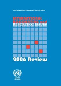 International Accounting and Reporting Issues: 2006 Review