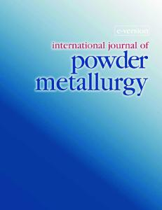 International Journal of Powder Metallurgy Volume 45 Issue 1
