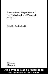 International Migration and the Globalization of Domestic Politics (Transnationalism)