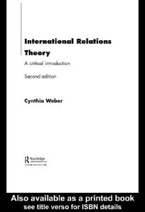 International Relations Theory: A Critical Introduction