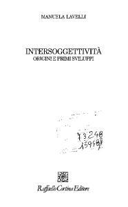 Intersoggettività. Origini e primi sviluppi