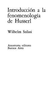 Introducción a la fenomenología de Husserl