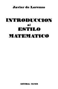 Introduccion al estilo matemático