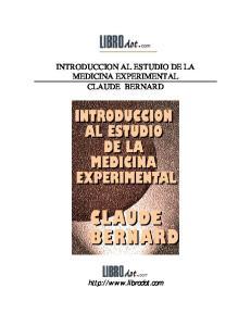 Introduccion Al Estudio De La Medicina Experim