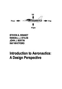 Introduction to Aeronautics: A Design Perspective (Aiaa Education Series)