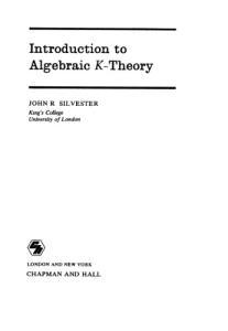 Introduction to Algebraic K-Theory (Chapman & Hall mathmatics series)