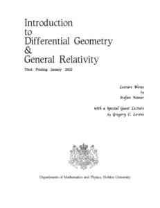 Introduction to Differential Geometry and General Relativity