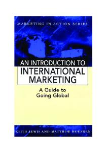 Introduction to International Marketing (Marketing in Action)