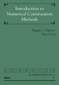 Introduction to Numerical Continuation Methods (Classics in Applied Mathematics)