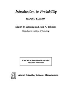 Introduction to Probability, 2nd Edition